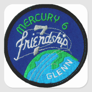 Mercury 6: Friendship 7 – John Glenn Square Sticker