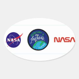 Mercury 6 Friendship 7 – John Glenn Oval Stickers