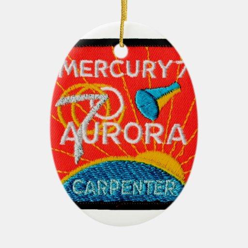 Mercury 7: Aurora 7 - Carpintero de Scott Adorno Ovalado De Cerámica