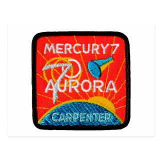 Mercury 7: Aurora 7 - Carpintero de Scott Tarjeta Postal