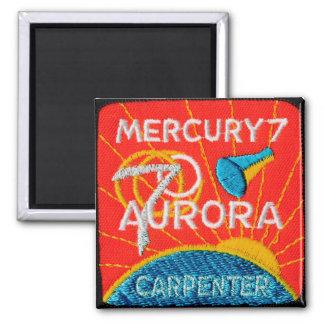 Mercury 7: Aurora 7 – Scott Carpenter 2 Inch Square Magnet