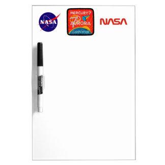 Mercury 7: Aurora 7 – Scott Carpenter Dry Erase Whiteboard