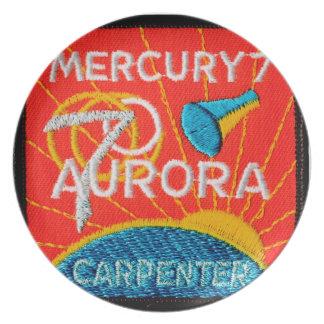Mercury 7: Aurora 7 – Scott Carpenter Melamine Plate