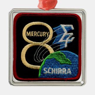 Mercury 8: Sigma 7 - Wally Schirra Adorno Navideño Cuadrado De Metal