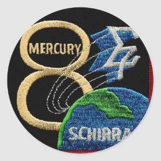 Mercury 8: Sigma 7 – Wally Schirra Classic Round Sticker