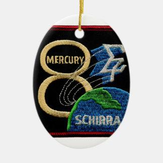 Mercury 8: Sigma 7 – Wally Schirra Double-Sided Oval Ceramic Christmas Ornament