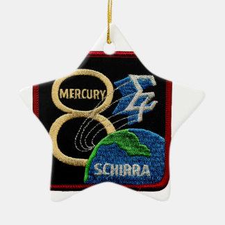 Mercury 8: Sigma 7 – Wally Schirra Double-Sided Star Ceramic Christmas Ornament
