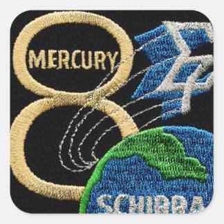 Mercury 8: Sigma 7 - Wally Schirra Colcomanias Cuadradas