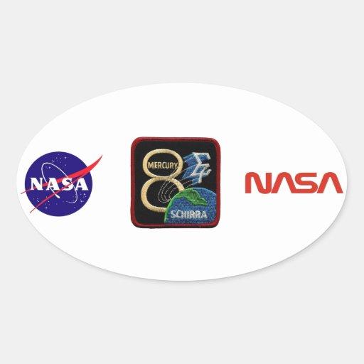 Mercury 8: Sigma 7 - Wally Schirra Pegatina Ovalada