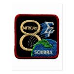 Mercury 8: Sigma 7 – Wally Schirra Postcard