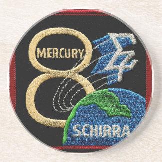 Mercury 8: Sigma 7 – Wally Schirra Sandstone Coaster
