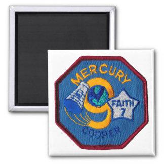 Mercury 9:  Faith 7 – L. Gordon Cooper 2 Inch Square Magnet