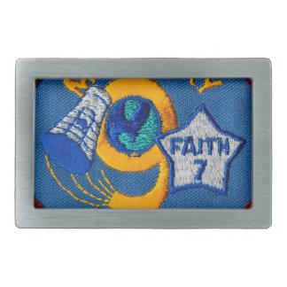 Mercury 9:  Faith 7 – L. Gordon Cooper Rectangular Belt Buckles