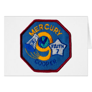 Mercury 9:  Faith 7 – L. Gordon Cooper Greeting Card