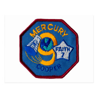 Mercury 9:  Faith 7 – L. Gordon Cooper Postcard