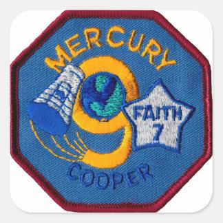Mercury 9:  Faith 7 – L. Gordon Cooper Square Sticker