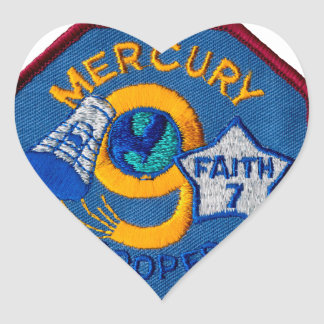 Mercury 9:  Faith 7 – L. Gordon Cooper Heart Sticker