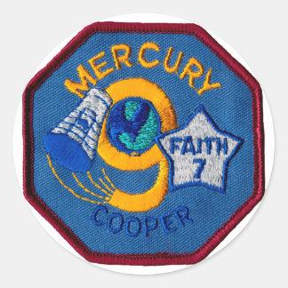 Mercury 9:  Faith 7 – L. Gordon Cooper Classic Round Sticker