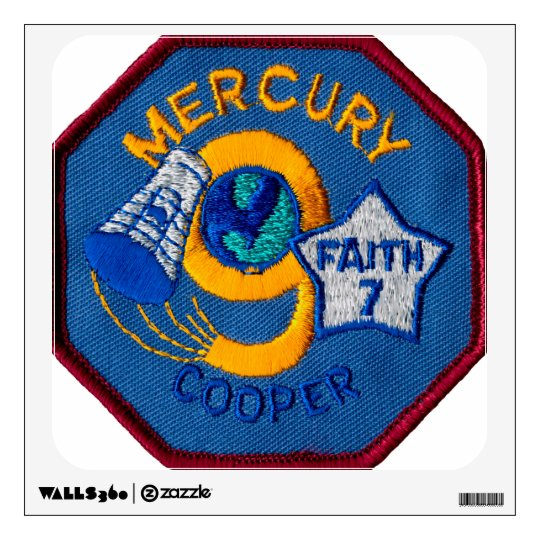 Mercury 9:  Faith 7 – L. Gordon Cooper Wall Decal
