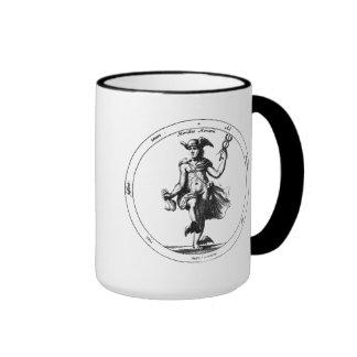 Mercury alquímico y caduceo tazas de café