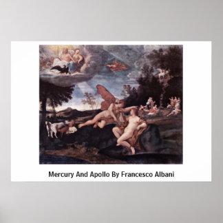 Mercury And Apollo By Francesco Albani Poster