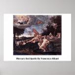 Mercury And Apollo By Francesco Albani Print