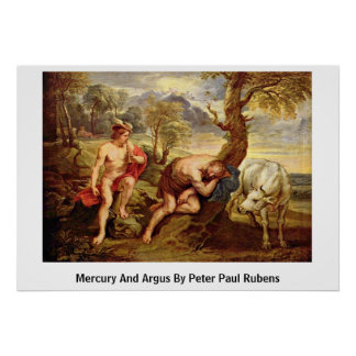 Mercury And Argus By Peter Paul Rubens Poster