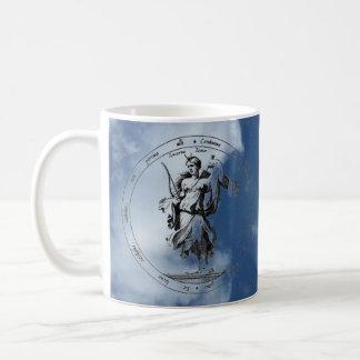 Mercury and Luna in the Clouds Classic White Coffee Mug