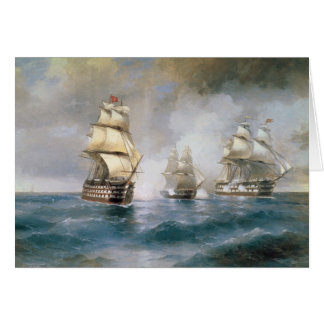 Mercury Attacked by Two Turkish Ships Greeting Card