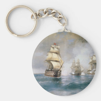Mercury Attacked by Two Turkish Ships Keychain