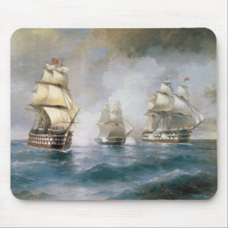 Mercury Attacked by Two Turkish Ships Mouse Pad