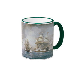 Mercury Attacked by Two Turkish Ships Ringer Mug