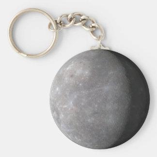 Mercury Basic Round Button Keychain