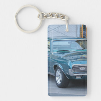 Mercury Classic Cougar Single-Sided Rectangular Acrylic Keychain