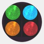 Mercury Collage Round Sticker