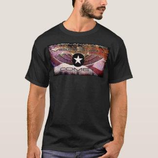 Mercury Comet Winged-Star Faded Flag Design T-Shirt