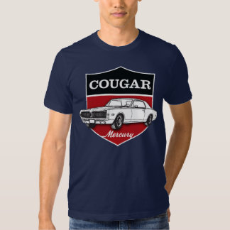 Mercury Cougar (1968) crest illustration T Shirts