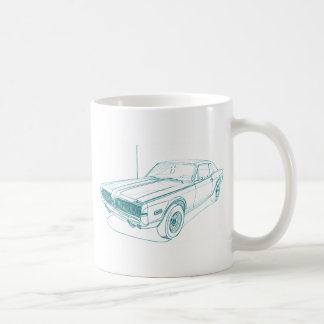 Mercury Cougar 1968 Classic White Coffee Mug