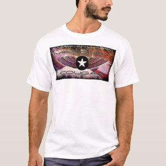 Mercury Cougar Winged-Star Faded Flag Design T-Shirt