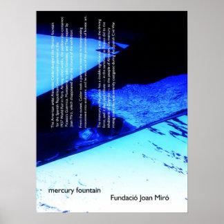 mercury fountain poster