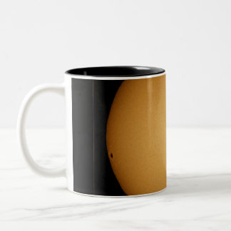 Mercury in transit across the sun Two-Tone coffee mug