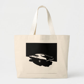 Mercury Marauder, 1969 - Black on light totebag Bags
