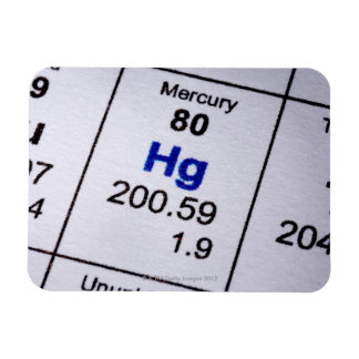 Mercury molecular formula rectangular photo magnet
