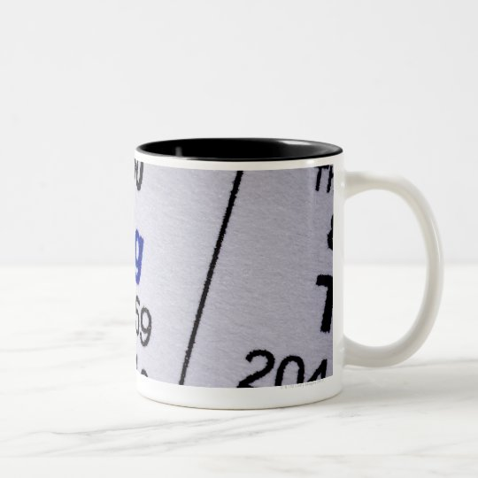 Mercury molecular formula Two-Tone coffee mug