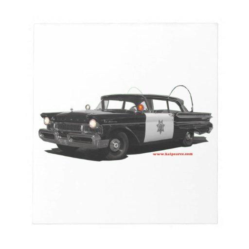 Mercury-monterey-carretera-patrulla-car 1957 libretas para notas