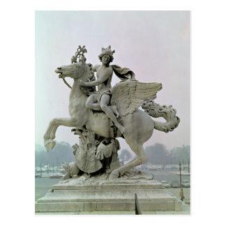 Mercury on Pegasus  1701-02 Postcard