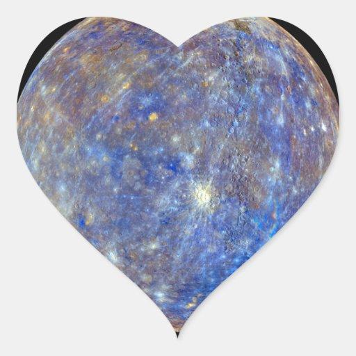 Mercury Pegatina En Forma De Corazón
