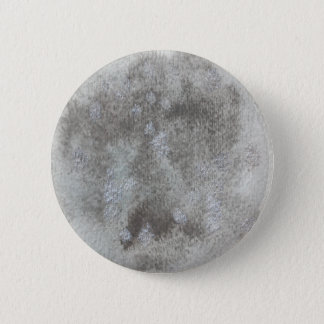 Mercury Planet Watercolor Button Round