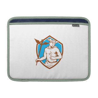 Mercury que sostiene el escudo del personal del fundas MacBook