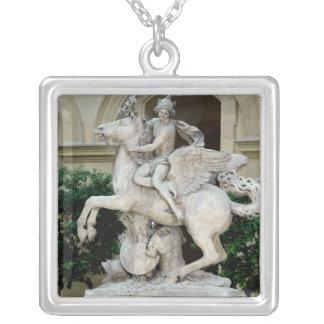 Mercury riding Pegasus Custom Necklace